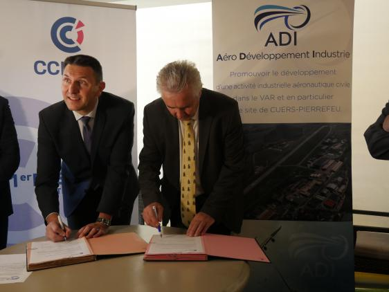 Signature de convention avec l'association ADI